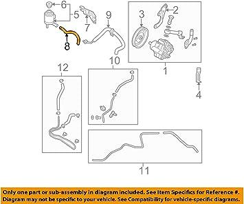 Amazon Com Nissan 49717 Zb000 Power Steering Reservoir Line Hose Automotive