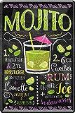 Blechschilder Mojito Cocktail – Alkohol Deko Schild für