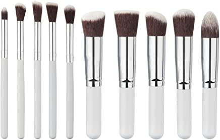 Generic 10Pcs Concealer Blusher Face Make Up Brushes Contour Cosmetic Tool