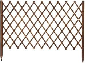 Tuinhek, Decoratief Houten Privacyscherm Uitbreidbaar Plant Grens Verwijderbaar Afscherming Piketten voor Bloemperk Gazon,...
