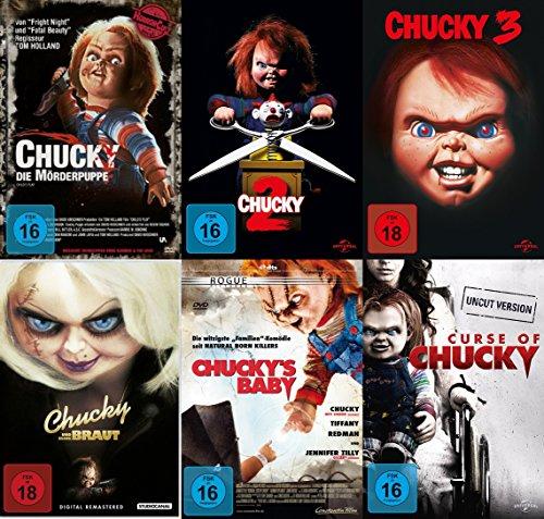 6er CHUCKY Collection DIE MÖRDERPUPPE Teil 1 2 3 + CHUCKYs BRAUT + CHUCKYs BABY + CHUCKYs FLUCH DVD Limited Edition