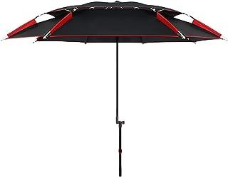 RSBCSHI Parasol, Parapluie de la Plage, Parapluie de pêche, UV50 +, Protection Solaire, étanche, revêtement en Vinyle, Fib...