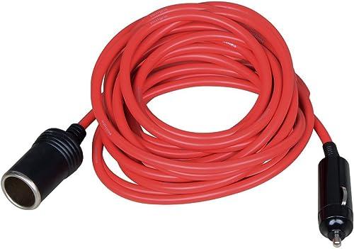 high quality Nilight NIL101 Car online sale Charger 12' Heavy Duty Extension Cord Cable Cigarette Lighter Plug, Socket, outlet online sale Red, 12V/24V online sale