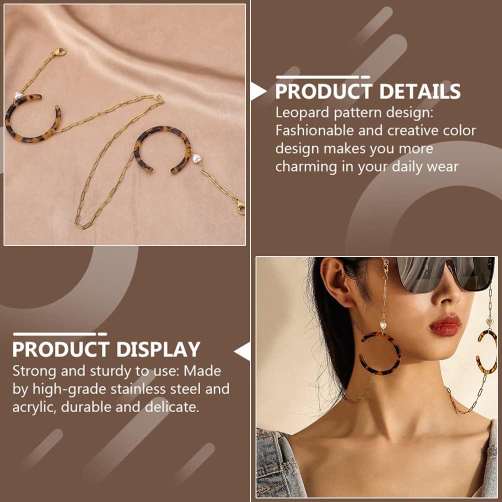 Holibanna Acrylic Eyeglass Chains Women Eye Glasses String Holder Face Cover Neck Lanyard Sunglasses Chain Cord Eyewear Retainer Strap for Women Men