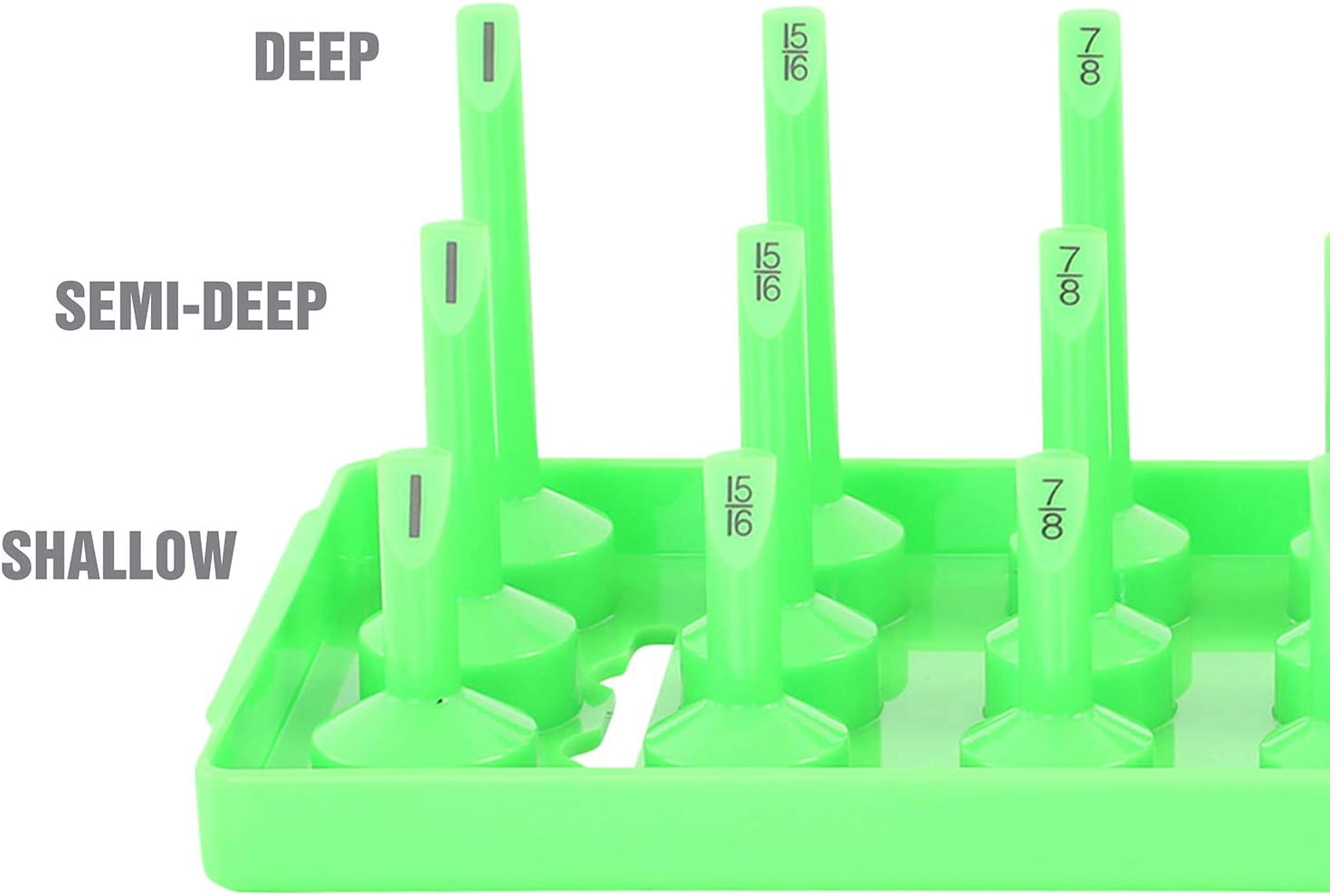 3//8 Inch Drive and Impact Socket Organizers for Toolboxes OEMTOOLS 22338 Black 3 Post Metric Socket Tray Set 3 Piece and 1//2 Inch Drive 1//4 Inch Drive Shallow Deep Holds 141 Metric Sockets