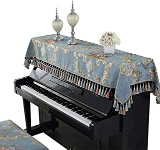 Comfortable Piano Cover European Fabric Piano Dust Cover Half Cover Embroidery Keyboard Fabric Full Cover Home Life