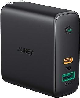 AUKEY AUKEY(オーキー) USB充電器 Focus Duo 60W [USB-A 1ポート/Type-C 1ポート] ブラック PA-D3-BK [2ポート /USB Power Delivery対応]
