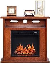 RKRLJX Chimenea eléctrica Chimenea eléctrica, Cubierta Calentador de leños ardientes de Madera Efecto de la Llama Chimenea portátil Estufa eléctrica Fuego Suite (Color : Brown Wood)