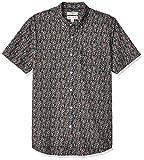 Marca Amazon – Goodthreads – Camisa estampada de manga corta de popelín y corte estándar para hombre, Pink Mini Floral, US XXXL (EU 5XL - 6XL)