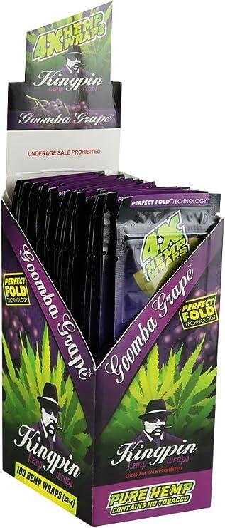 Hemp Wraps 25 x 4 100 Kingpin Pure Hemp Wraps Original G
