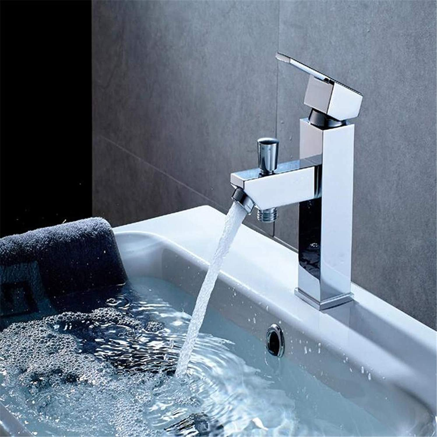 Faucetbasin Mixer Tap Single Single Hole Basin Faucet with Water Distributor Function Faucet Mixing Water Faucet.