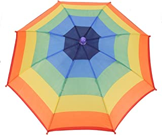 VGEBY1 Sombrero para sombrilla, Gorra para Paraguas Sun Rain Rainbow Sombrero de Manos Libres para Pescar, Jardinería, Fotografía, Caminar, Camping