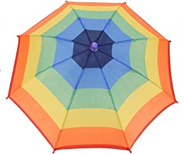 LouiseEvel215 Portable Fishing Camping beach Umbrella Hat Multicolor Cap Sun Rain Umbrella
