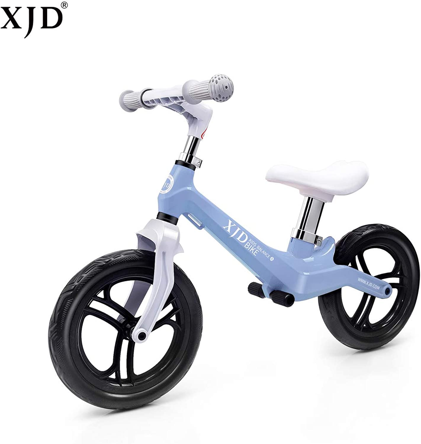 XJD Ultralight Balance Bike (4.8 lbs) for Ages 1.5 to 5 Years Magnesium Best Sport Push Bicycle for 2, 3, 4 Year Old Boys & Girls Toddlers Kids Skip Tricycles on The Lightest First Bike