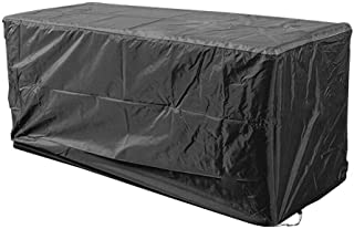 Outdoor Deck Box Cover 420D Waterproof Patio Storage Box Cover Outdoor Deck Box Ottoman Bench Cover Protects from Outdoor ...