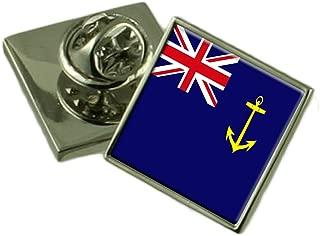 Leather Keyring Engraved Sea Cadet Military England Flag