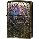 ZIPPO(ジッポー) ライター ゴールド アラベスク アンド ロゴ 唐草 5面連続エッチング シリアルナンバー入り 2GI-Z5KARA