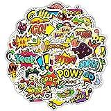 50 unids/set pegatina de texto de estilo Popular creativo palabra de moda Doodle papelería pegatina Scrapbook portátil maleta monopatín
