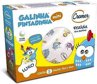 Fralda Luxo Bainha Galinha Pintadinha Mini 70 x 68 cm, Cremer