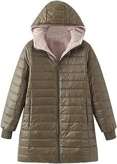 Dainzuy Women's Winter Jacket Coat Cotton Padded Slim Fit Faux Fur Lined Parkas Outwear Overcoat with Hood