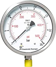 PI Controls UK Pressure Gauge, PG-150-R35-WF-SS