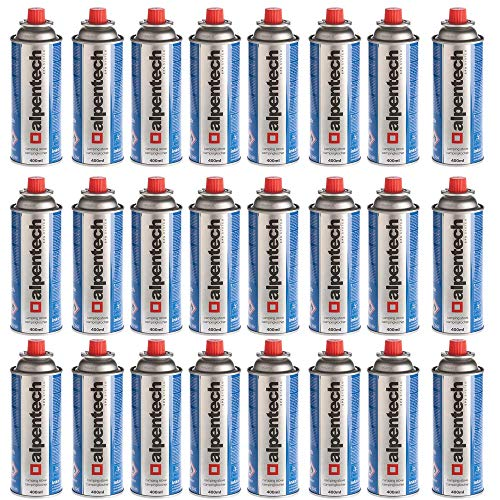 Cartucho de gas butano de 227 g con válvula, azul, 24 cartuchos