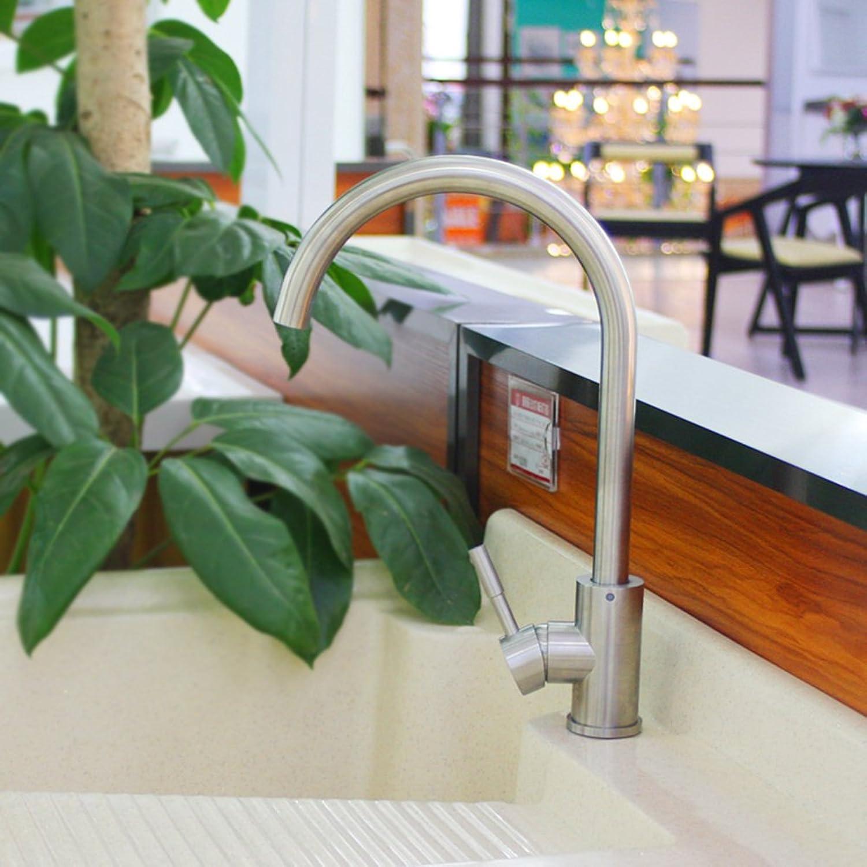 HCP Edelstahl-Spüle Wasserhahn Tippen Sie warm und kalt Drehbare Wasserhahn