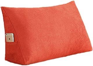 Oreillers de Lecture lit Grand Dossier de positionnement traversin de Soutien du Cou pour canapé-lit lavables (Color : Ora...