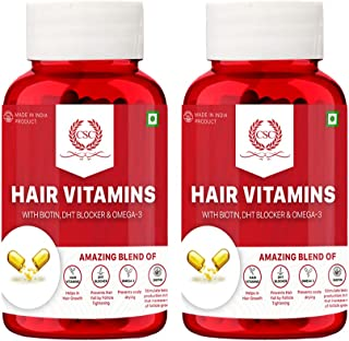 CSC Hair Vitamins - Hair Nutrition Supplement with Hair Vitamin Blend, Biotin, DHT Blocker, and Omega 3 for Healthy Re-Gro...