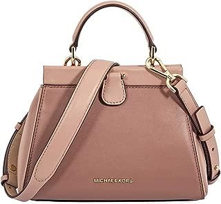 Michael Kors Gramercy Frame Top Handle Color Block Leather Satchel Bag