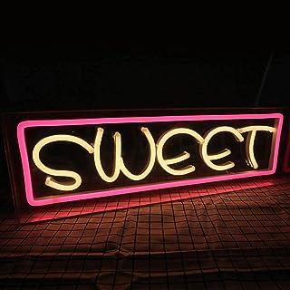 アート LED ネオンサイン、12V アクリル ライト ボックス、ビール、バー、パブ、寝室、パーティー、壁の装飾ランプ (色 : SWEET)