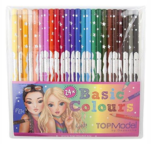 Top Model 006710 – Confezione di 24 matite, multicolore