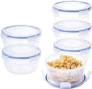 Fiambreras de plástico redondo cuencos BPA libre 600ml cocina ensalada cajas se puede usar en microondas 6valor pack rp041W