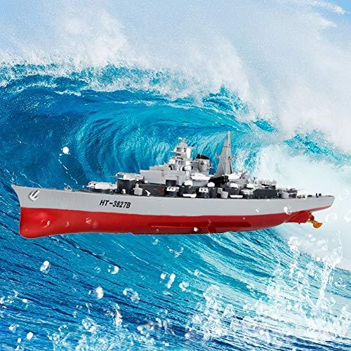 JZH-Light RC Boot Schlachtschiff Militär Fernsteuerung 2.4Ghz 1/360 Speedboot Ferngesteuert Kriegsschiff Spielzeug Boot Für Kinder