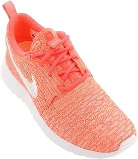 Nike Women's Rosherun Flyknit Running Shoes Pink White