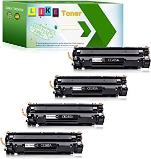 LikeToner Compatible for HP 85A CE285A Toner Cartridge High Yield for HP Laserjet Pro P1102W P1109W P1106w Laserjet Pro MFP M1217NFW M1212NF M1132 M1214NFH M1138 M1219nf M1216nfh Printer (Black, 4-Pac