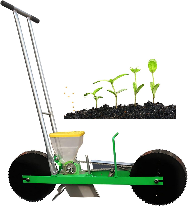 Sembradora de precisión para jardín, sembradora manual de metal, sembradora de hileras, sembradora de empuje de jardín para verduras, cebollas, rábanos, remolachas