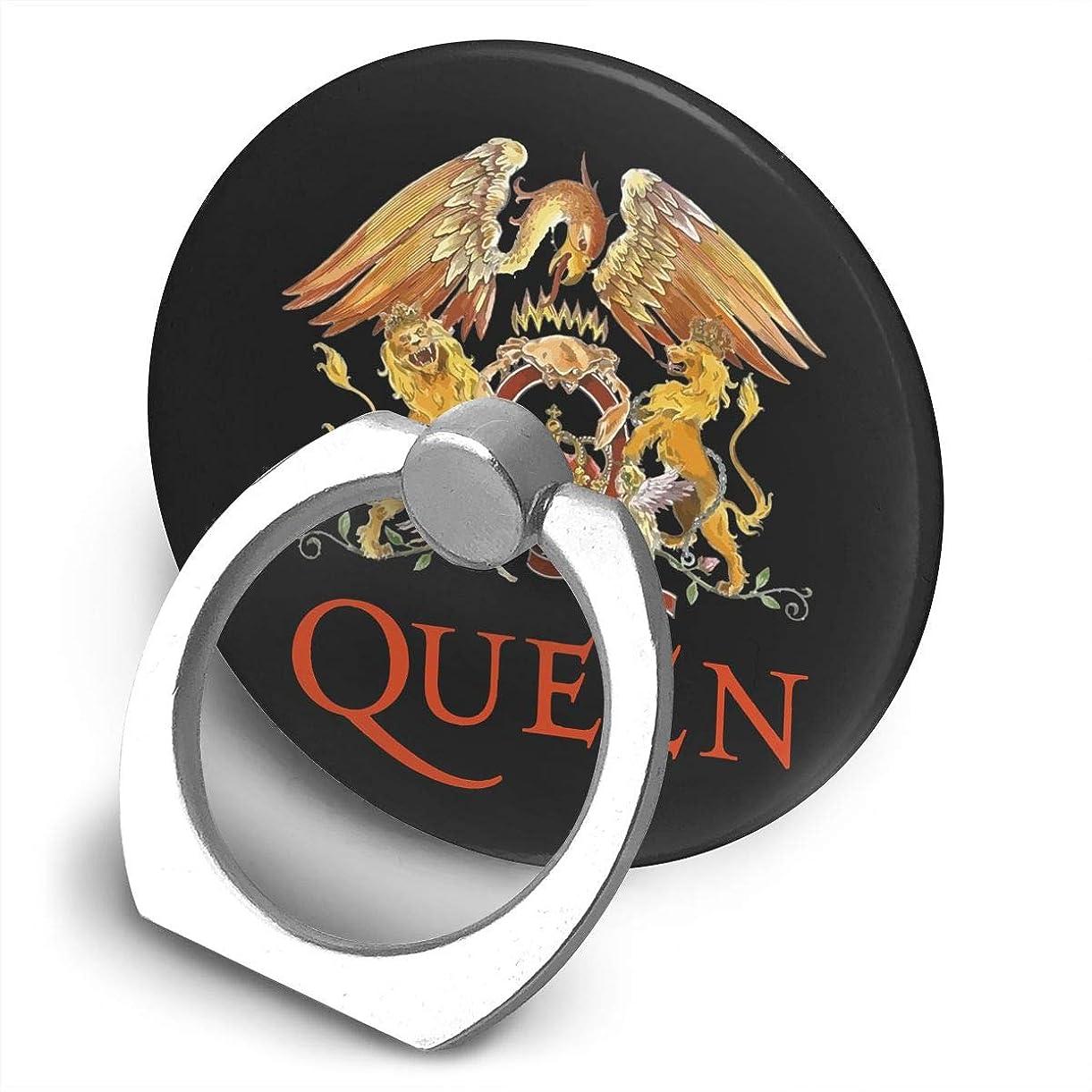 またはどちらか呪われた体現するクイーン Queen Band ロゴ スマホ リング ホールドリング 指輪リング 薄型 おしゃれ スタンド機能 落下防止 360度回転 タブレット/スマホ IPhone/Android各種他対応