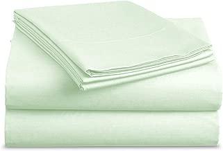 Luxe Bedding Sets - Queen Sheets 4 Piece, Flat Bed Sheets, Deep Pocket Fitted Sheet, Pillow Cases, Queen Sheet Set - Mint