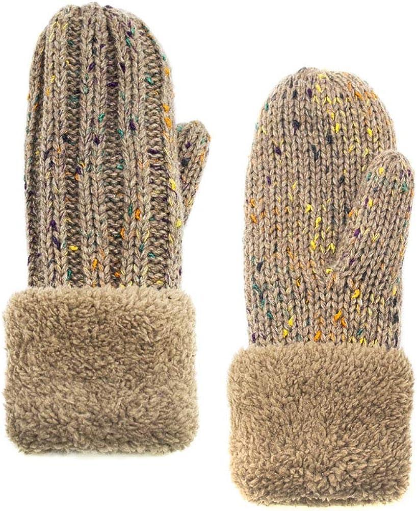 ScarvesMe Multicolor Confetti Fleece Interior Mitten Gloves