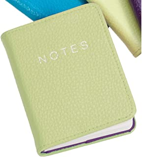 Lime Leather 10cm Notebook by Dulwich Designs