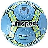uhlsport 100162301 Ballon de Foot Mixte Adulte, Bleu/Fluo Jaune/Noir, Taille 4