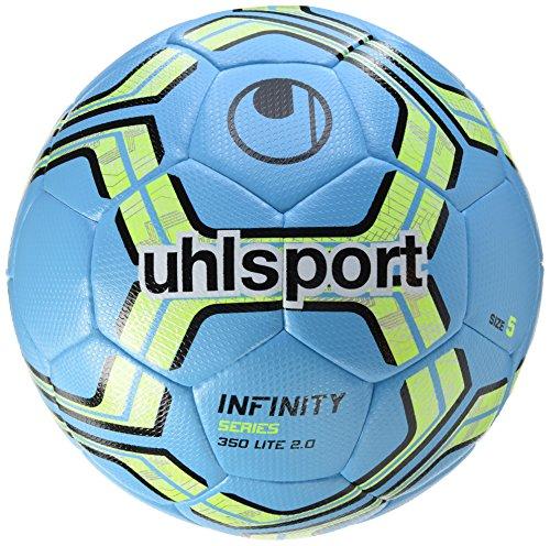 uhlsport Infinity 350 Lite 2.0 Fußball Ball, eisblau/Fluo gelb/Schwarz, 5