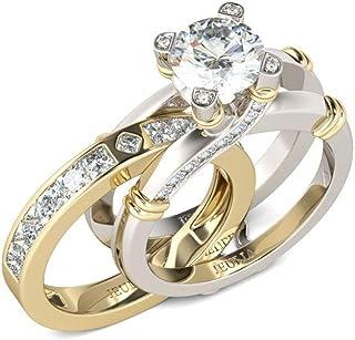 Jeulia 4.94ct Anillo de Diamantes para Mujer, Plata de Ley con circonitas Intercambiables, para Boda Compromiso Aniversari...