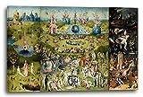 Leinwand (80x60cm): Hieronymus Bosch - Der Garten der