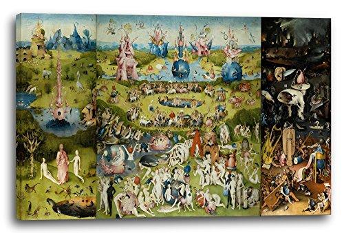 Hieronymus Bosch - Der Garten der Lüste (1490/1510) - Alle drei Tafeln, 100x70 cm, Leinwand auf Keilrahmen gespannt und fertig zum Aufhängen, Stilrichtung: Renaissance, Surrealismus