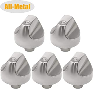 WB03T10329 WB03X32194 Cooktop Range Burner Control Dial Knob Stainless Steel 5pack Compatible with GE-Replace Part Number WB03X25889 AP5985157