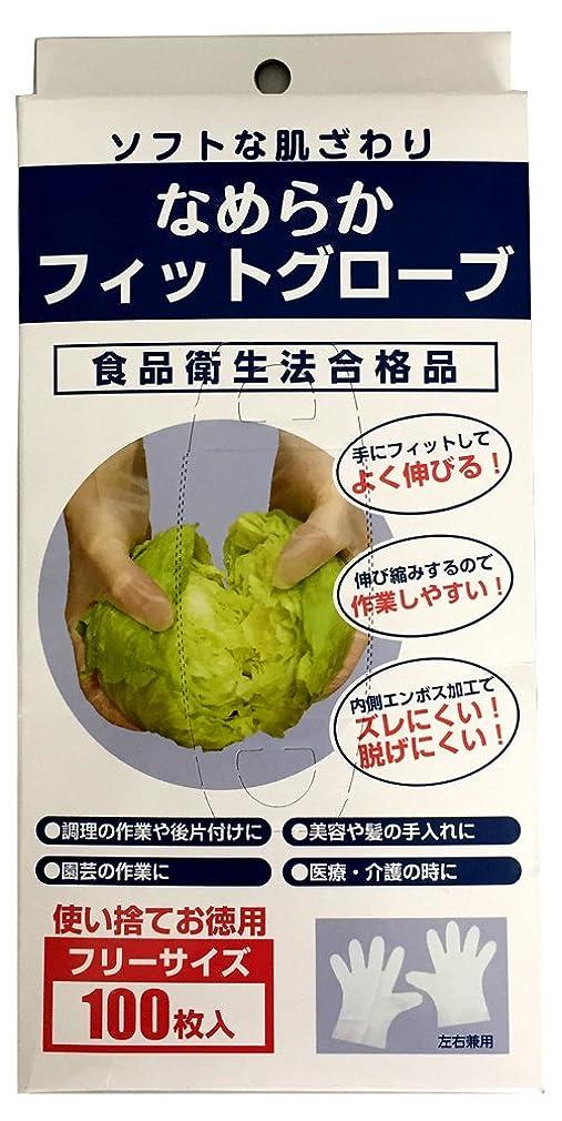 液化するアーク隠す調理用ビニール手袋 なめらかフィットグローブ 半透明?左右兼用 100枚入 KPC-701