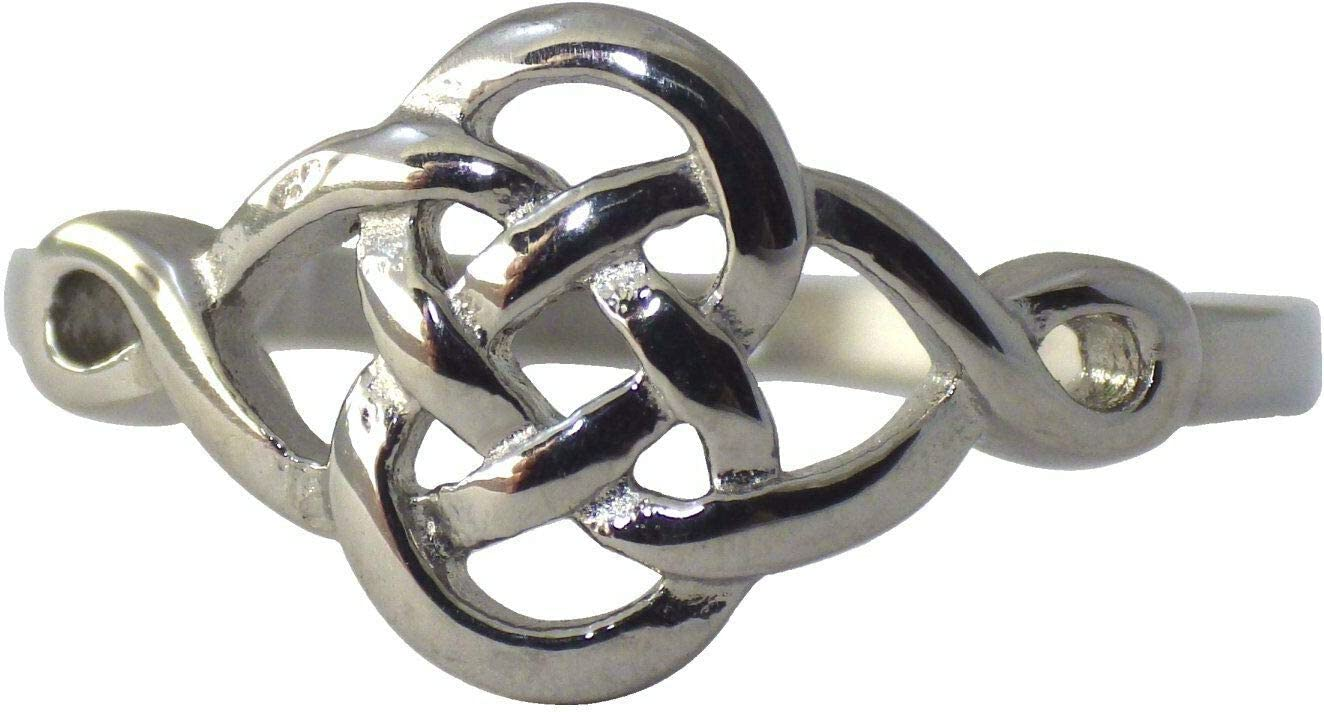 Ð¡harm - Celtic Dara Knot Ring Steel Latest item Stainless Womens Tampa Mall Vik Silver
