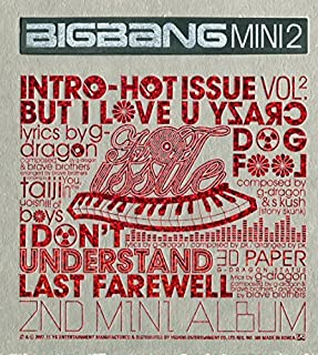 BIGBANG - Hot Issue [2007 Bigbang 2nd Mini Album] CD + Photo Booklet + Extra Gift Photocard